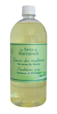 Traditions soap (refill 1 liter) Verbena - Les Sens de Marrakech
