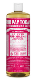 Organic Liquid Soap 240 ml - Rose / Dr Bronner's