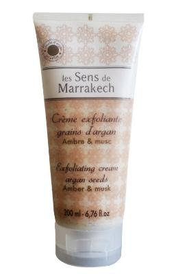 Exfoliating Cream Argan Seeds Tub 200 gr - Amber & Musk - Les Sens de Marrakech