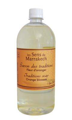 Traditions soap (refill 1 Liter) Orange blossom - Les Sens de Marrakech
