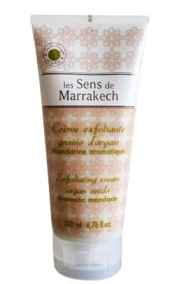 Exfoliating Cream Argan Seeds Tub 200 gr - Mandarin - Les Sens de Marrakech